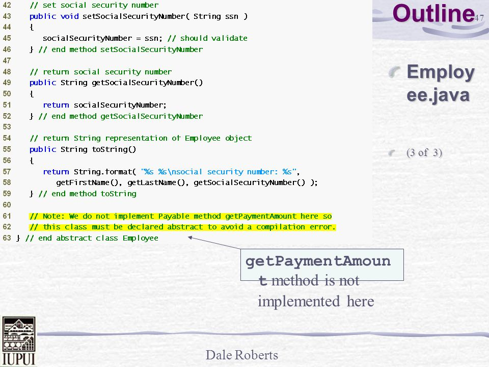 Outline Employee.java getPaymentAmount method is not implemented here