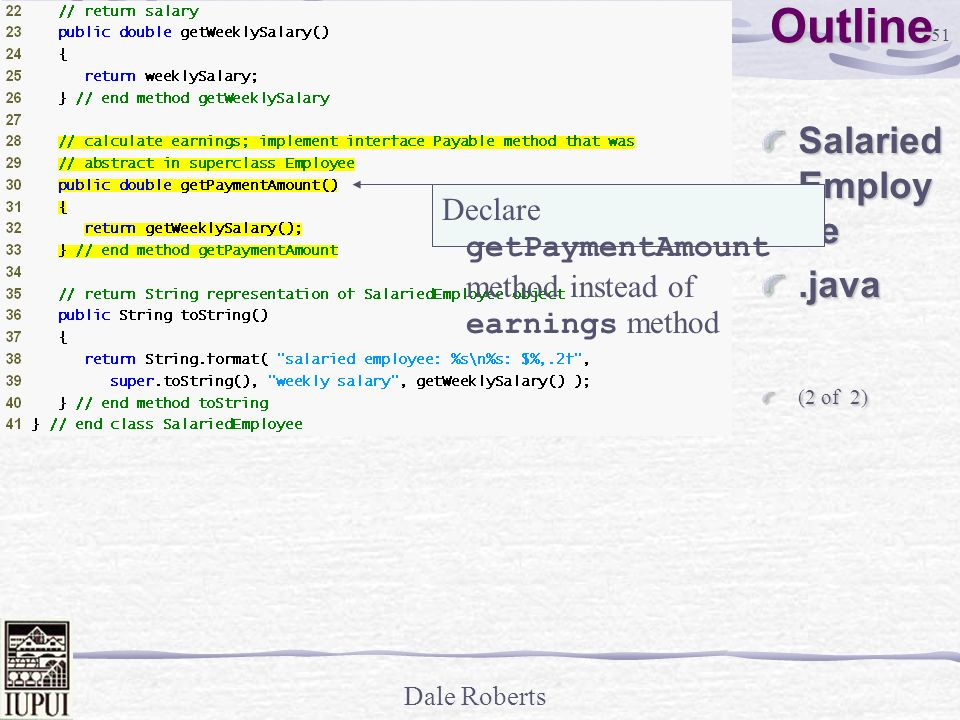 Outline SalariedEmployee .java