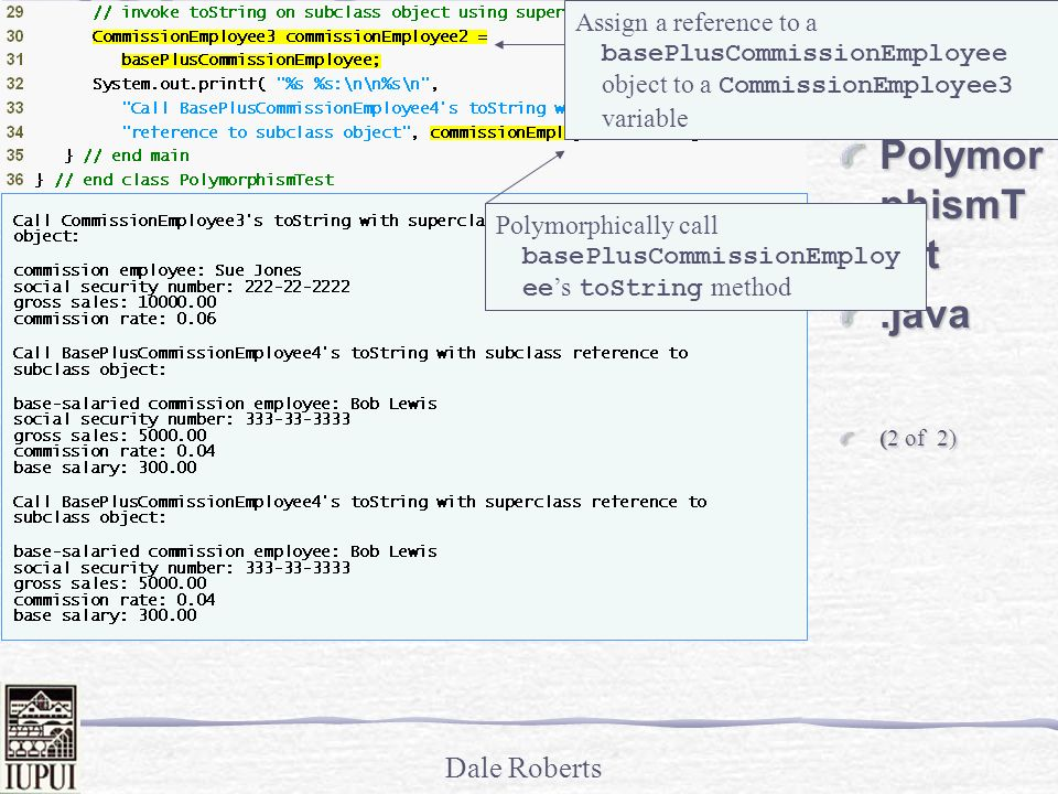 Outline PolymorphismTest .java