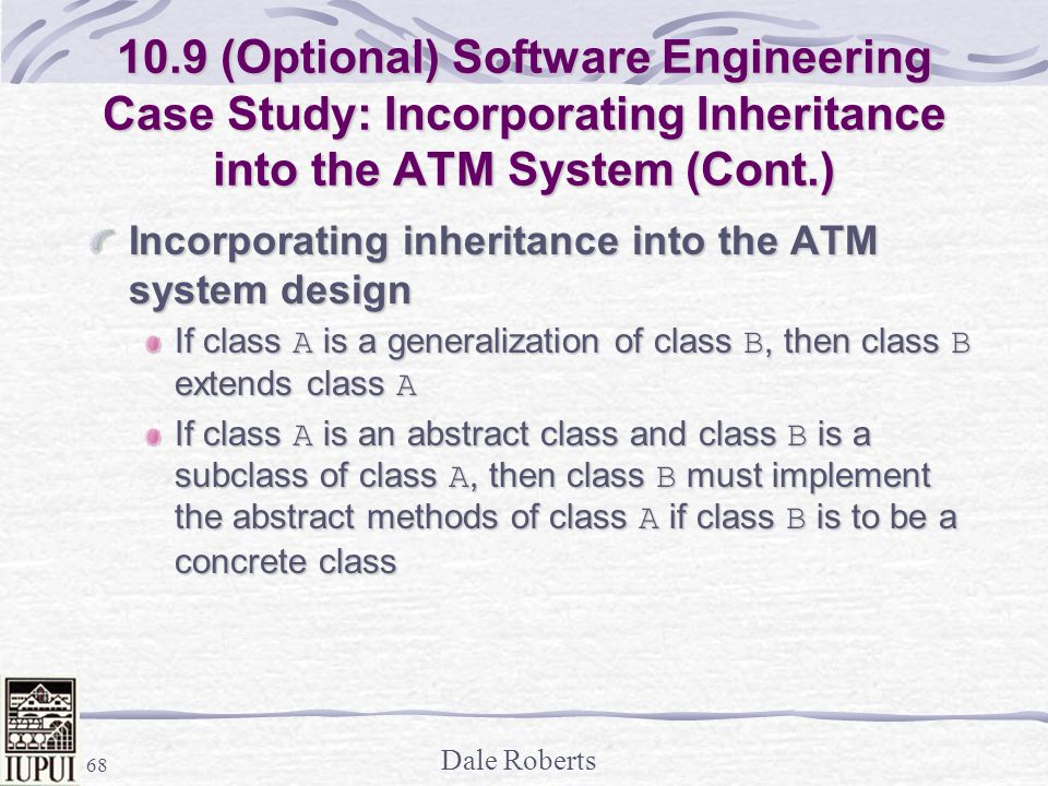 10.9 (Optional) Software Engineering Case Study: Incorporating Inheritance into the ATM System (Cont.)