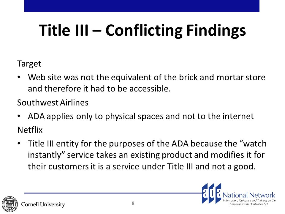 web accessibility case law examples ada trainer network