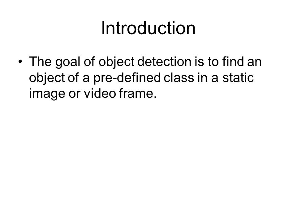A Tutorial on Object Detection Using OpenCV - ppt video online download