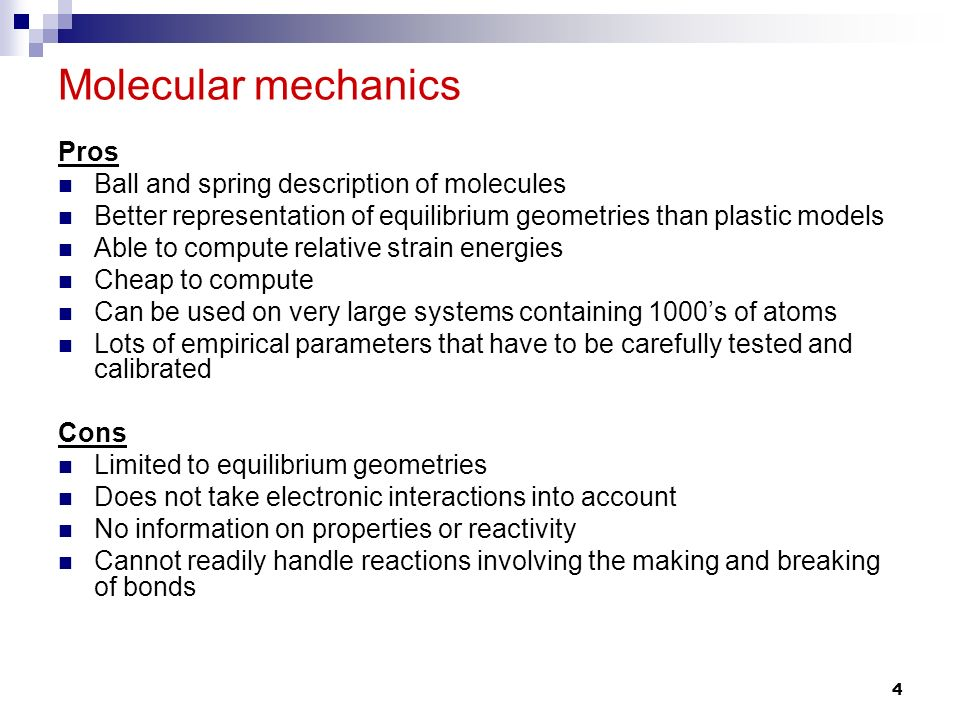 Molecular Mechanics & Quantum Chemistry - ppt video online