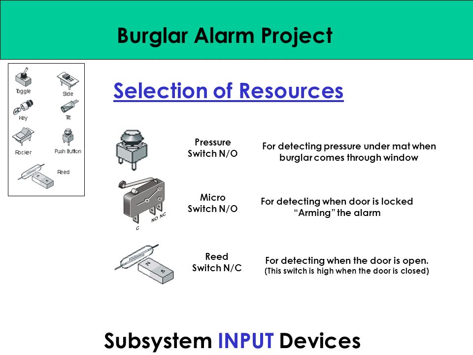 Systems Approach Burglar Alarm Project PROBLEM SITUATION