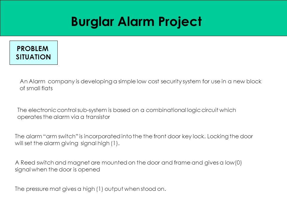 Systems Approach Burglar Alarm Project PROBLEM SITUATION DESIGN ...