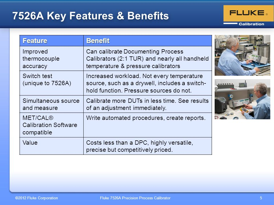 7526A Key Features & Benefits