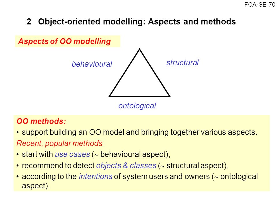 2 Object-oriented modelling: Aspects and methods