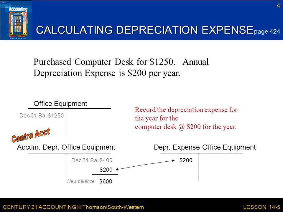 lesson 14 5 planning and recording depreciation adjustments ppt