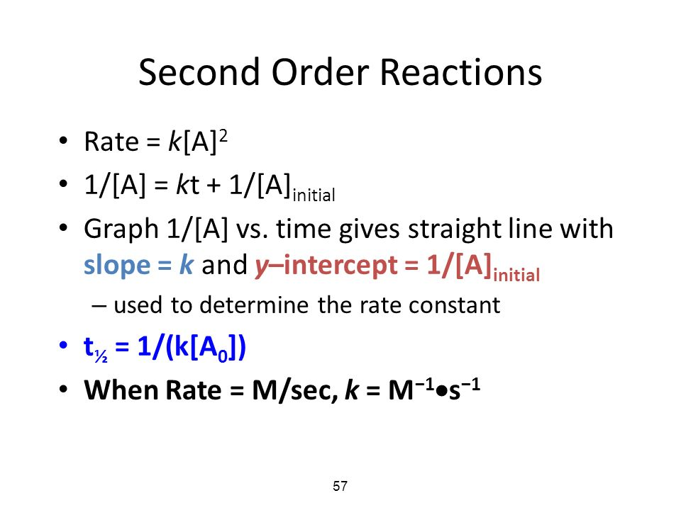how to determine if first or second order reaction