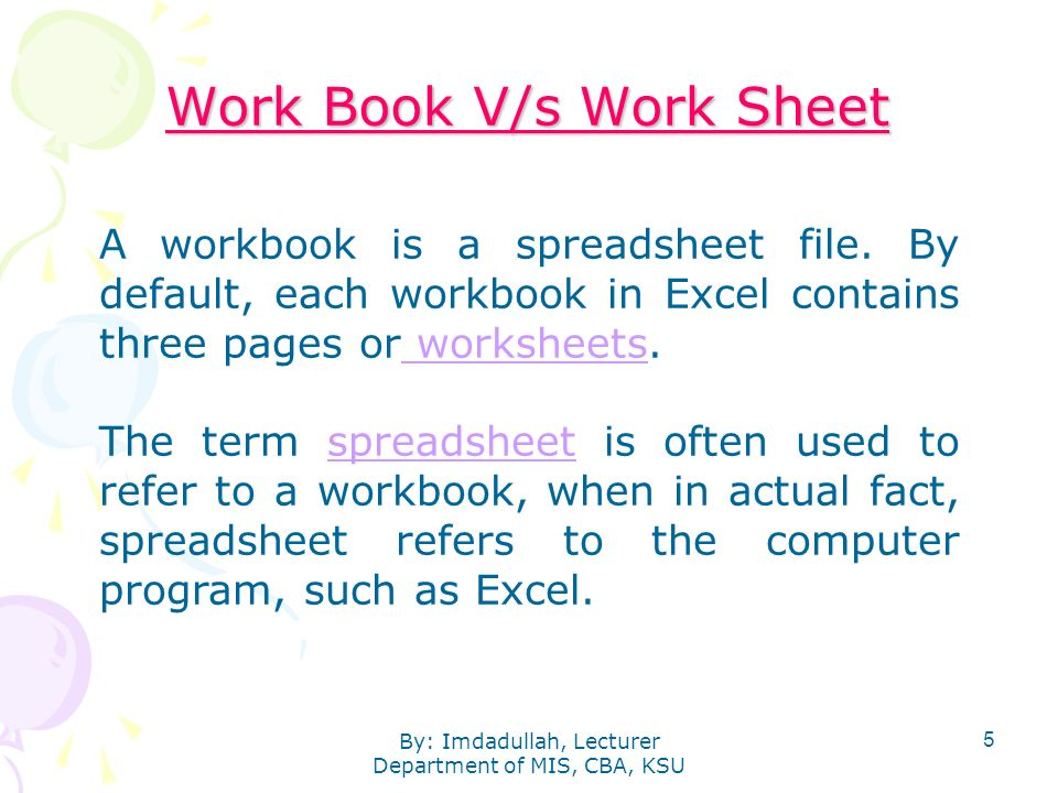 Management Information Systems Introduction To MS Excel Ppt Download