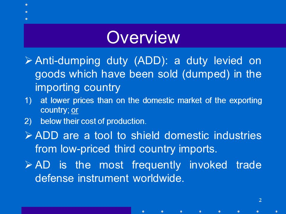 The Anti Dumping Agreement Ppt Download