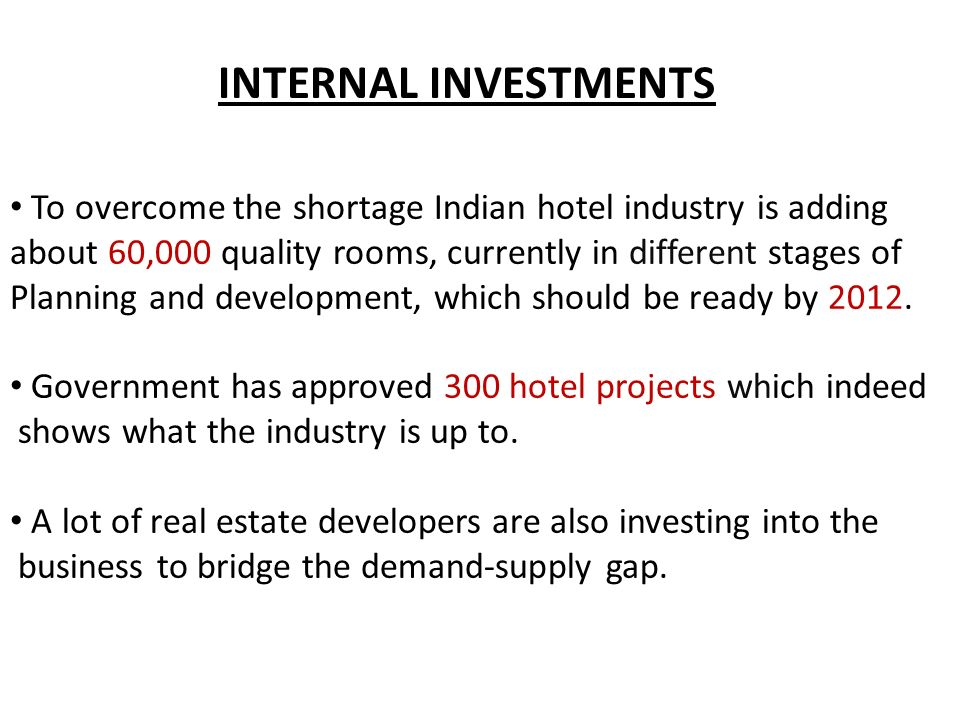 HOSPITALITY INDUSTRY IN INDIA - ppt video online download