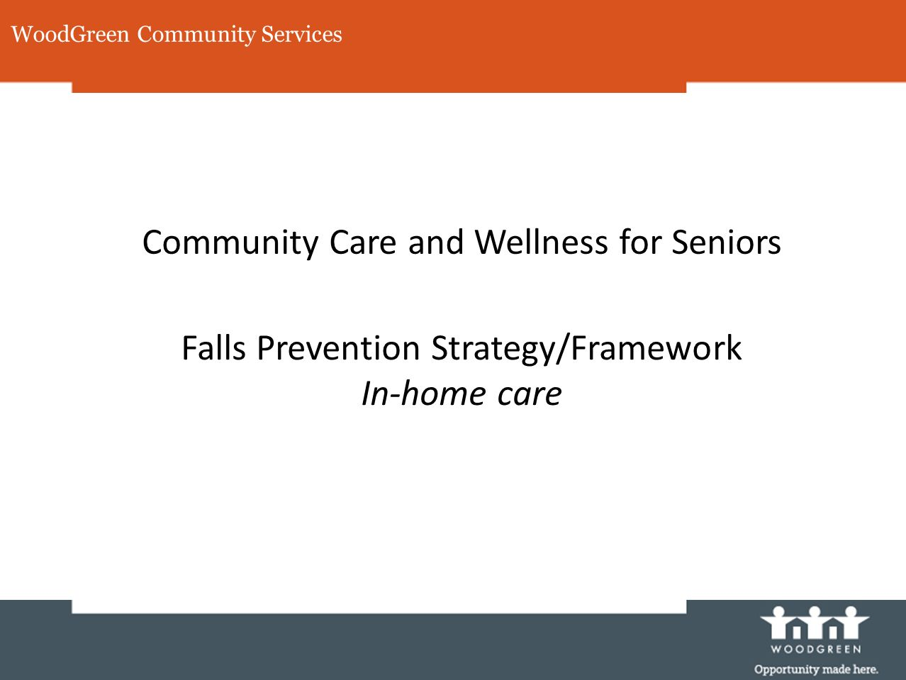 Community Care and Wellness for Seniors