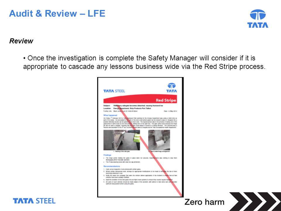 Audit & Review – LFE Review