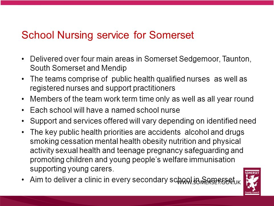 School Nursing service for Somerset