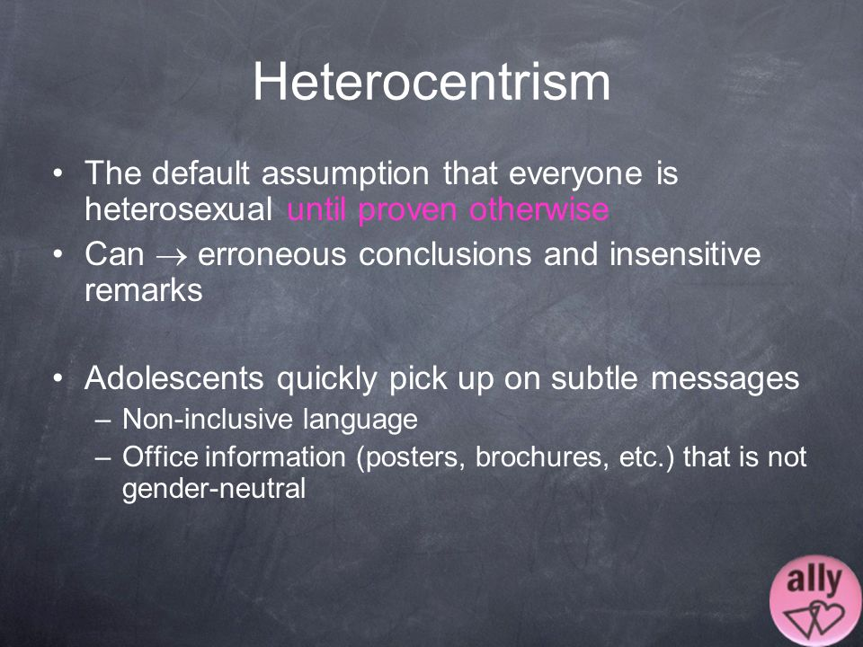 Heterosexual assumption definition