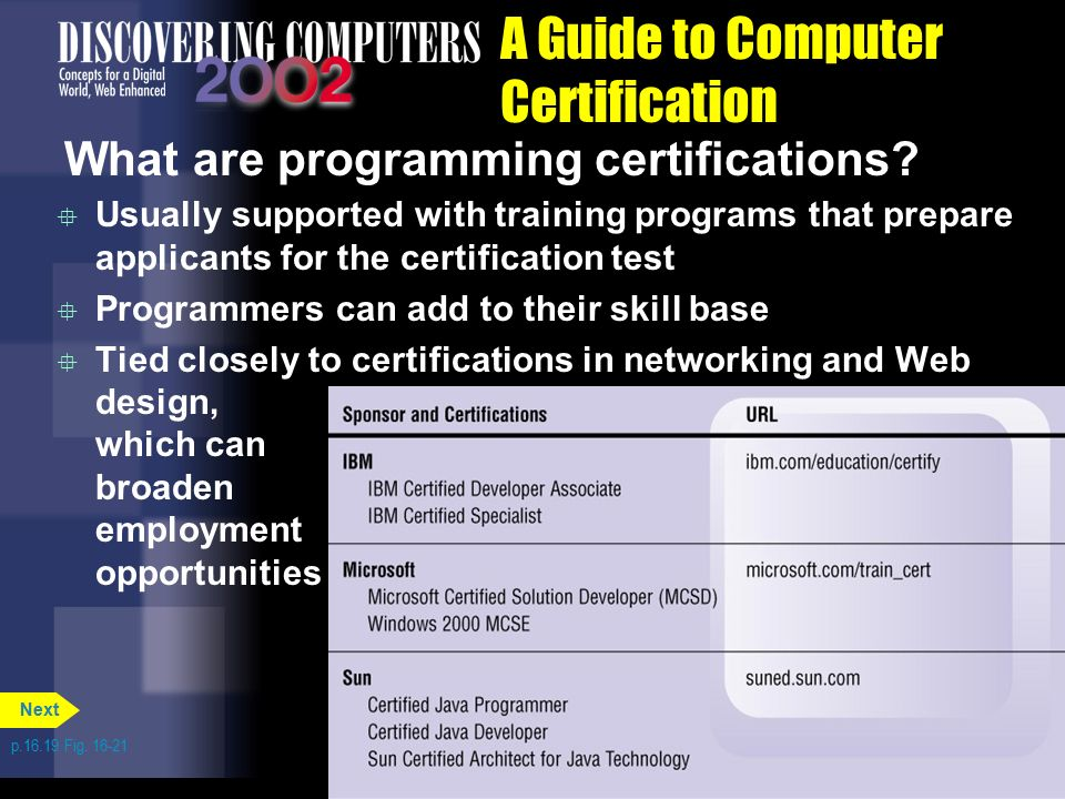 Chapter 16 Computer Careers And Certification Ppt Video Online