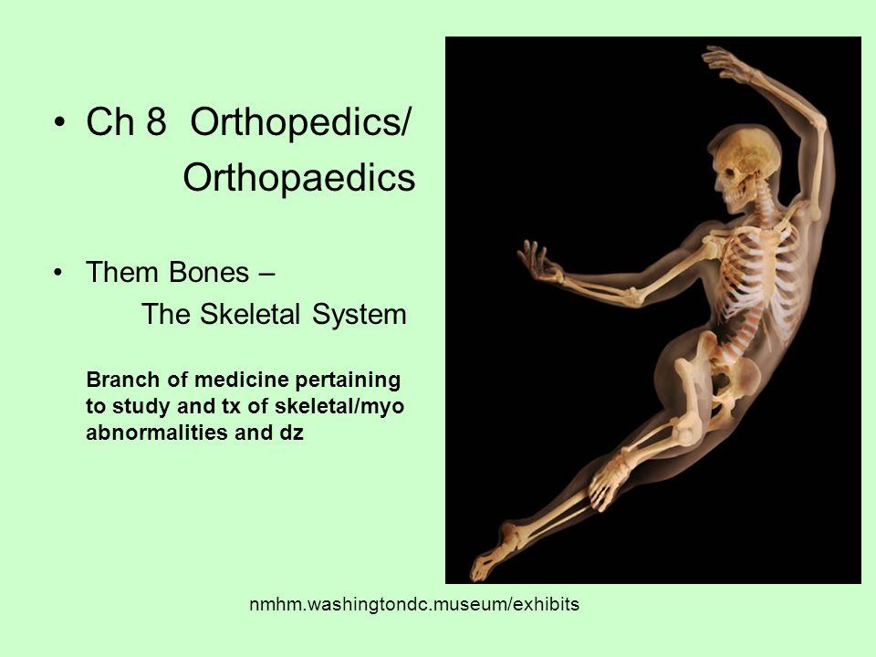 Ch 8 Orthopedics/ Orthopaedics Them Bones –