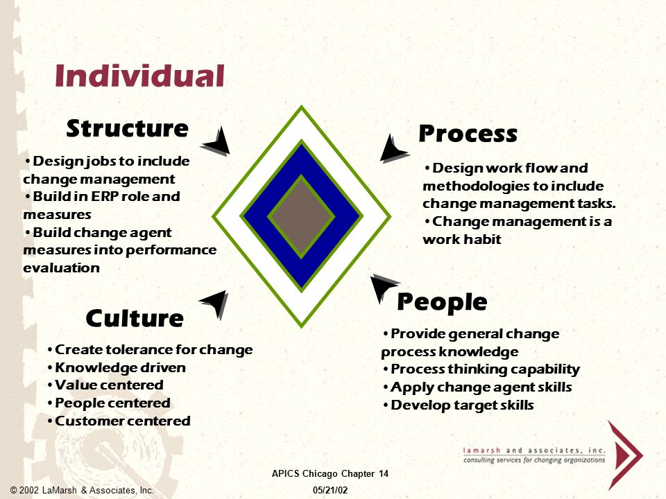 Individual Structure Process People Culture