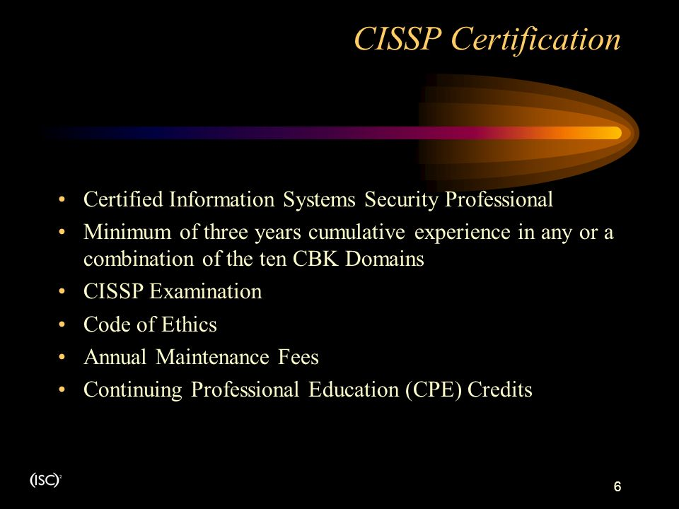 An Introduction To The Cissp Sscp Certifications Ppt Download