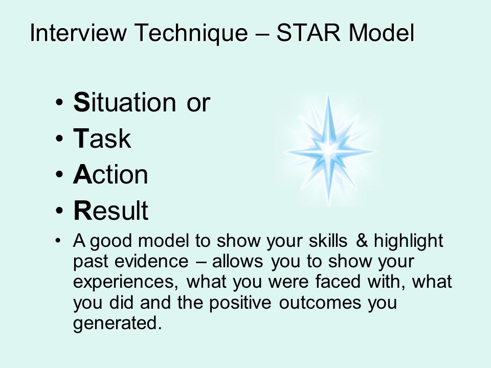 interview techniques star model