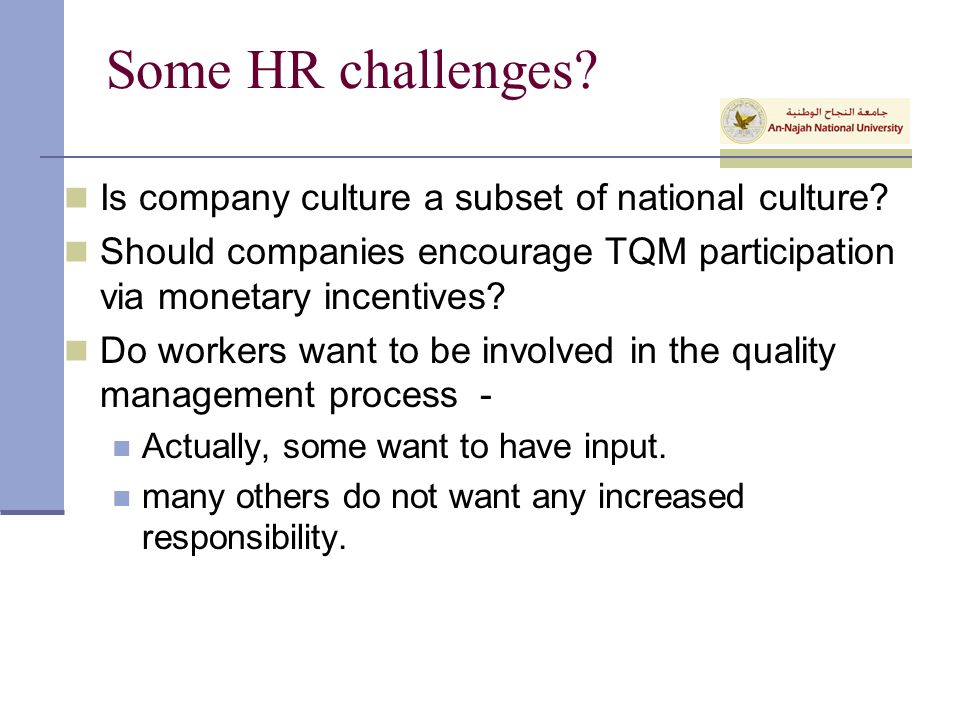 tqm and hr