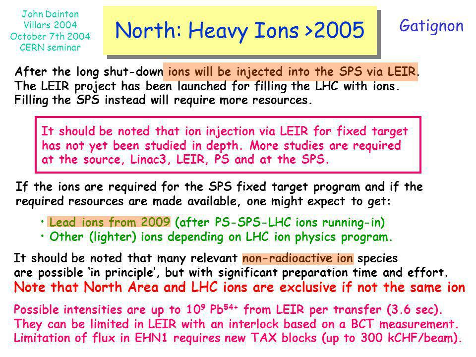 North: Heavy Ions >2005 Gatignon