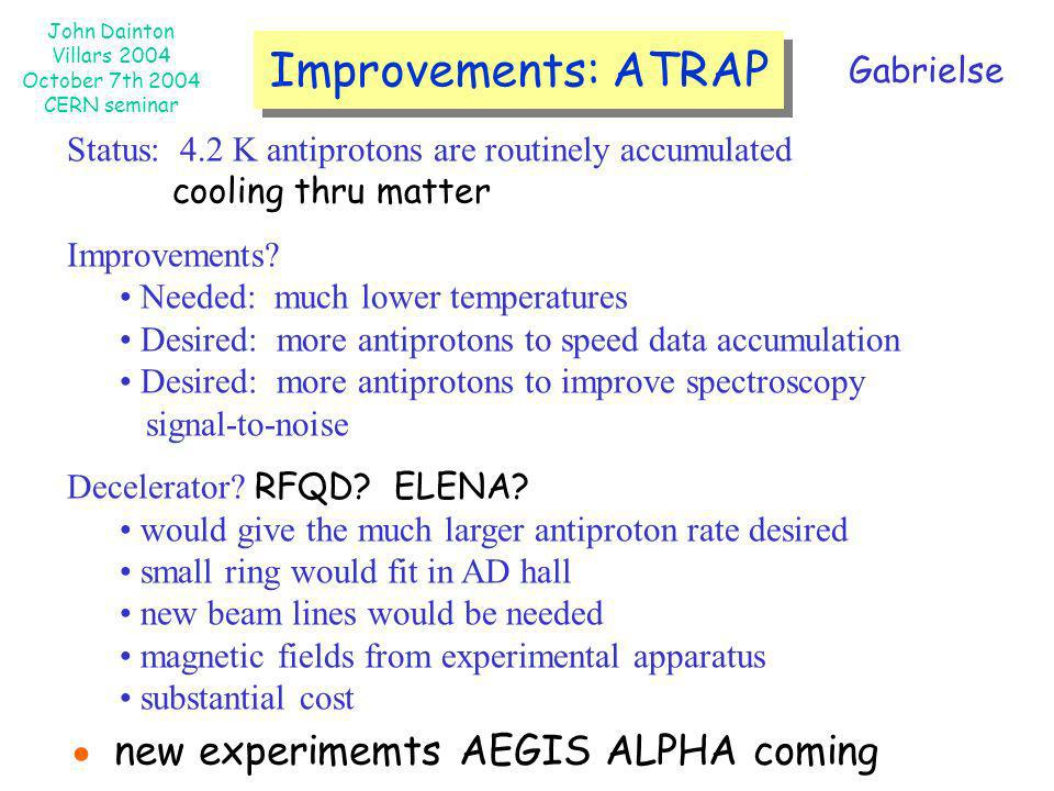 ● new experimemts AEGIS ALPHA coming