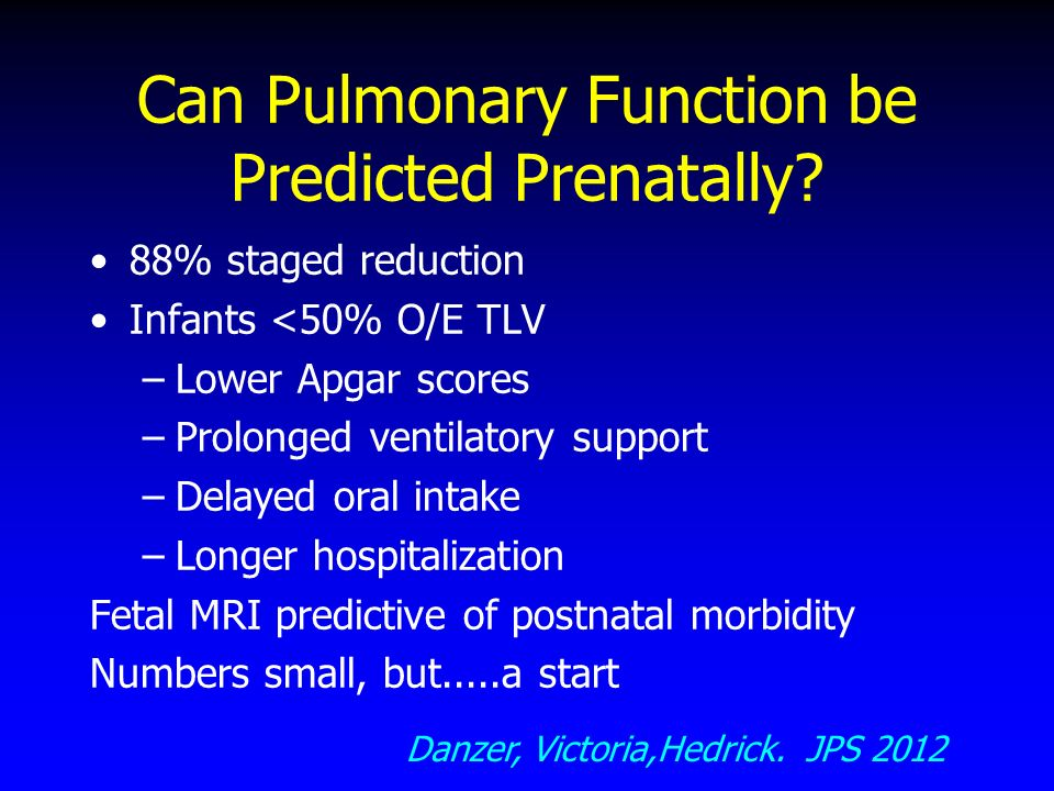 Can Pulmonary Function be Predicted Prenatally