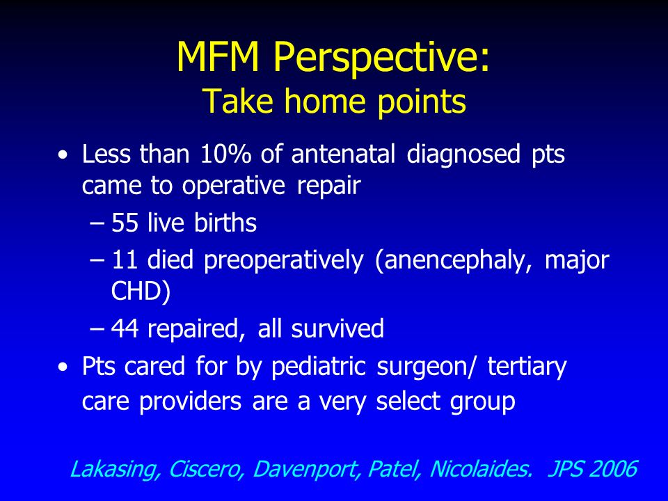 MFM Perspective: Take home points