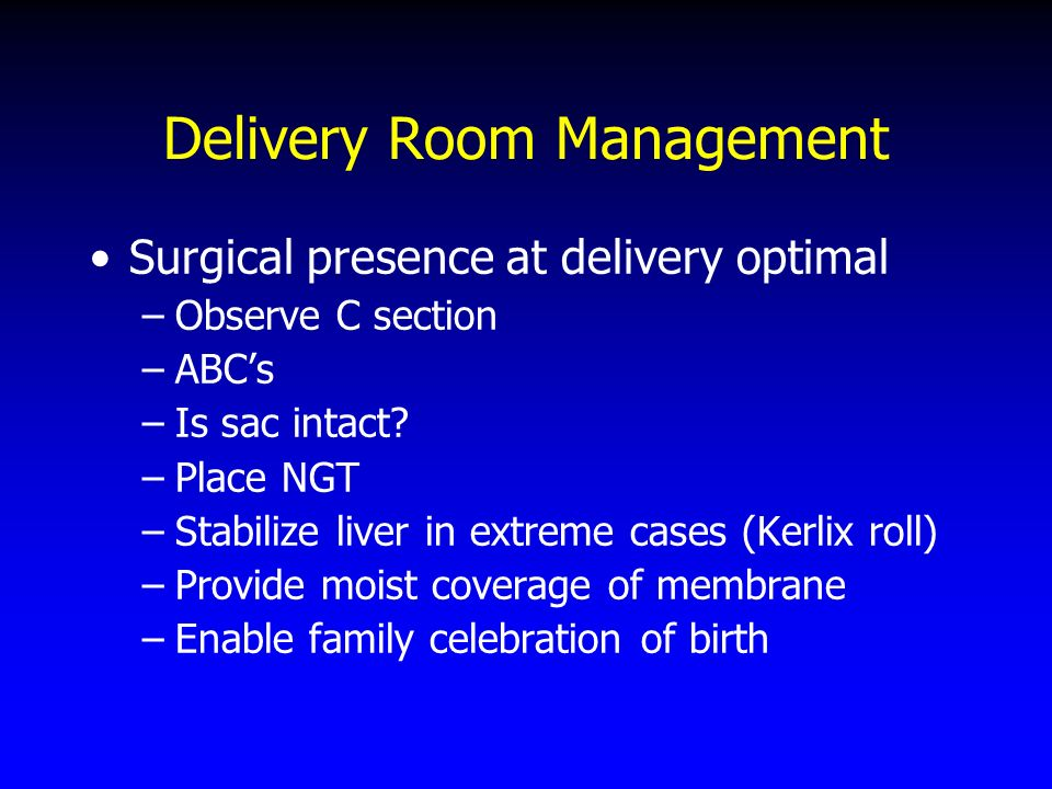 Delivery Room Management