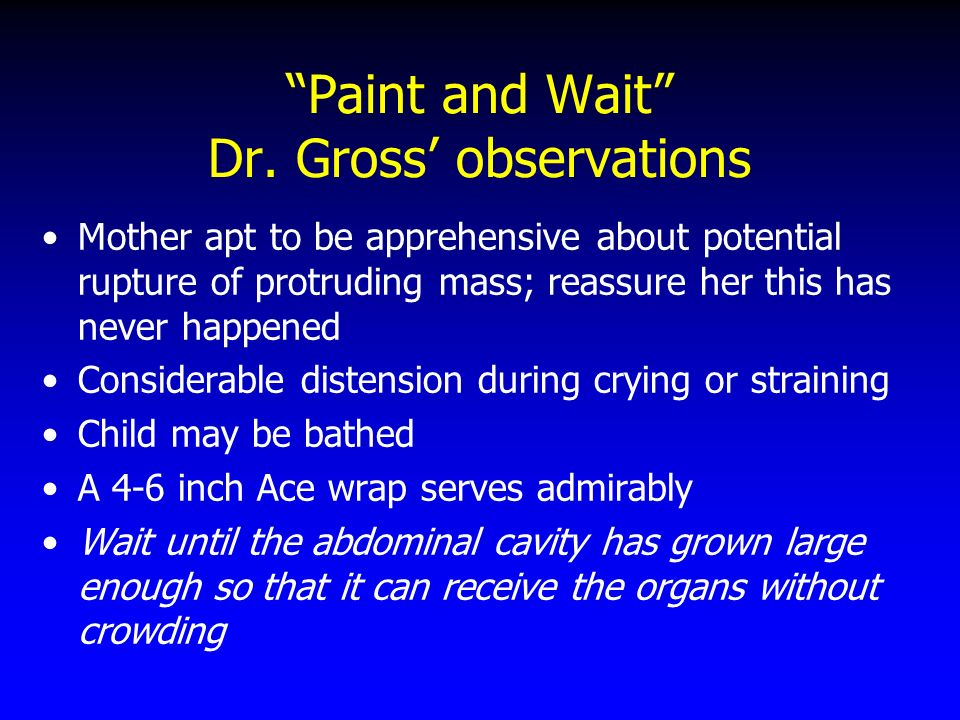 Paint and Wait Dr. Gross' observations