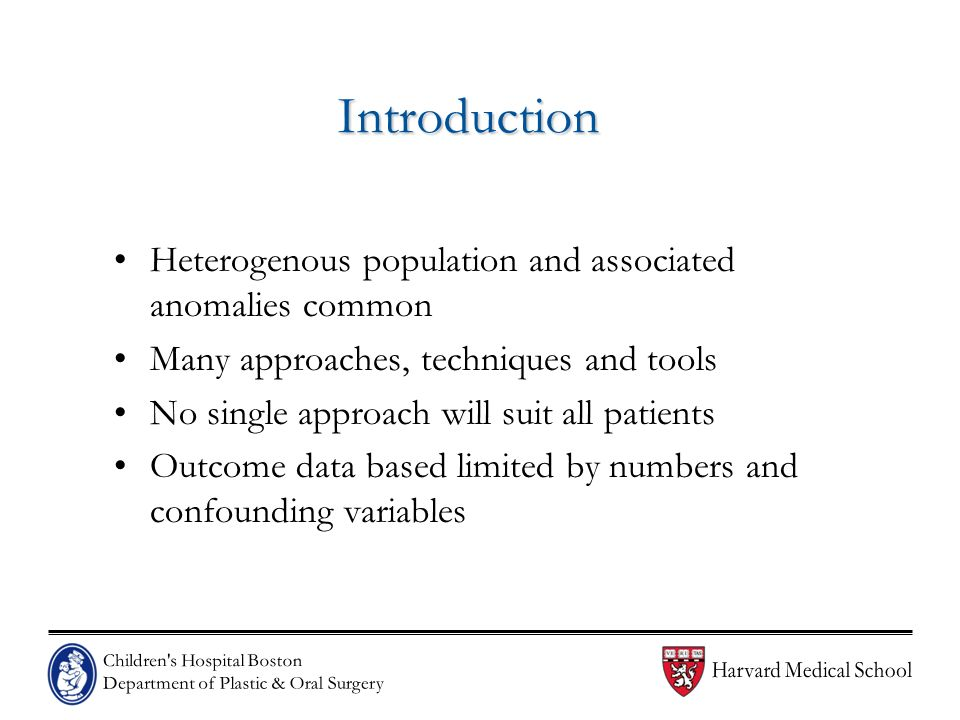Introduction Heterogenous population and associated anomalies common
