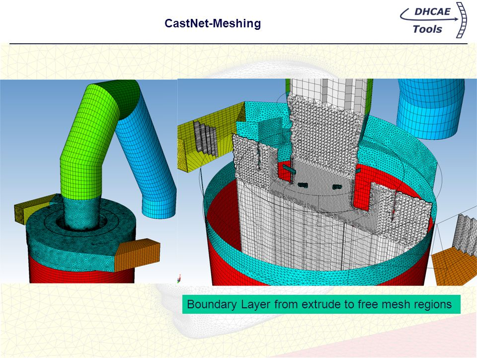 CastNet-Meshing Boundary Layer from extrude to free mesh regions