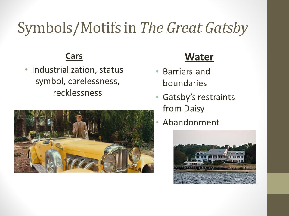 symbols and motifs in the great gatsby