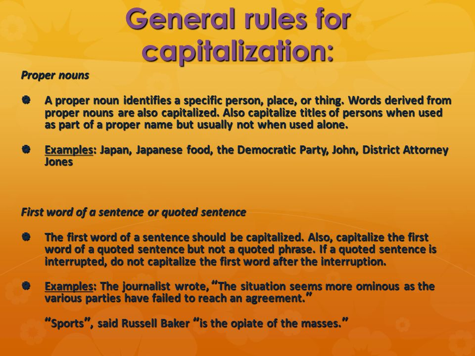 Capitalization Ppt Download
