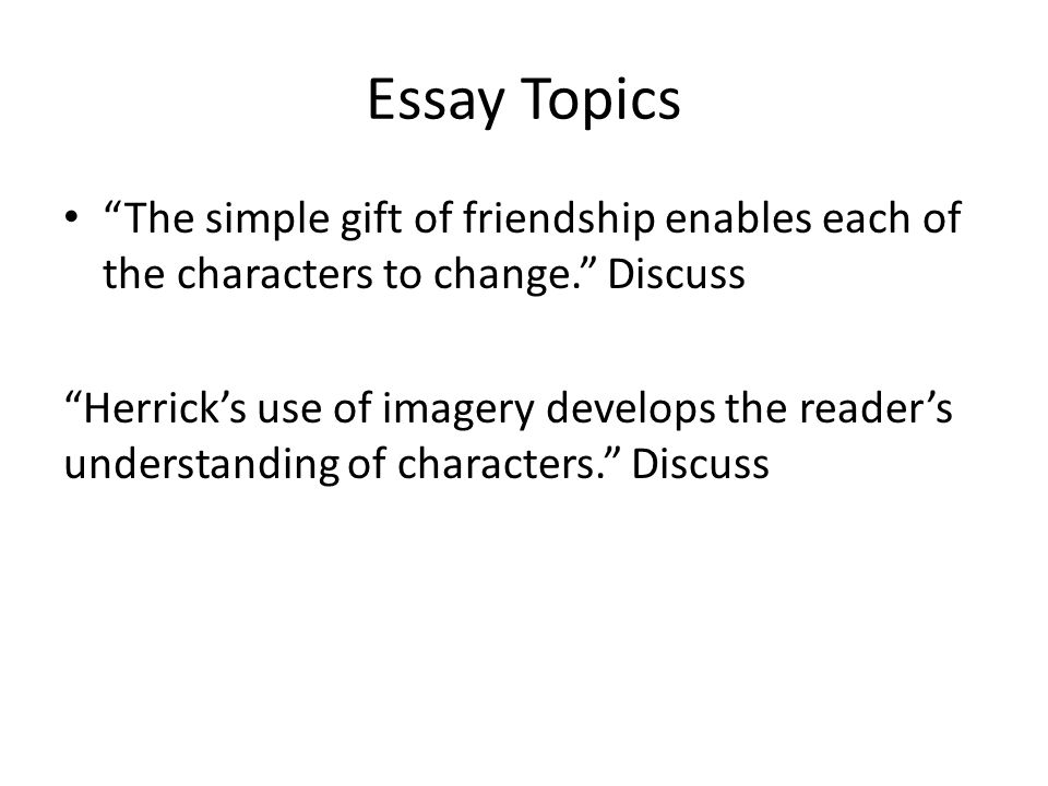 The Simple Gift Aim To Evaluate Billys Choices  Ppt Download  Essay Topics The Simple Gift
