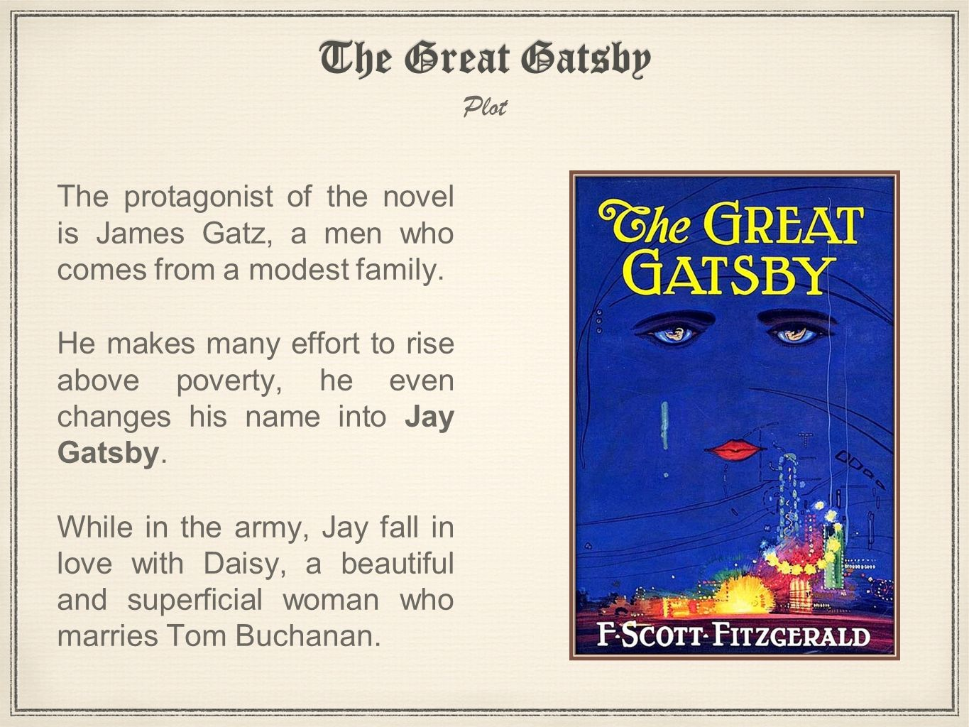 the great gatsby personality