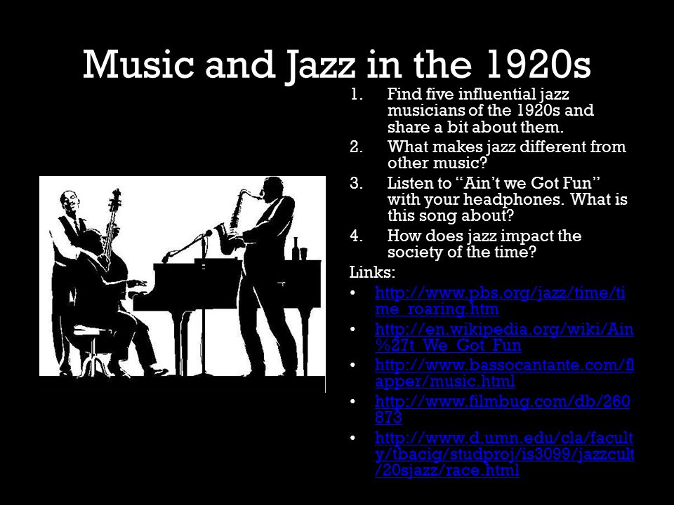 how did jazz affect the 1920s