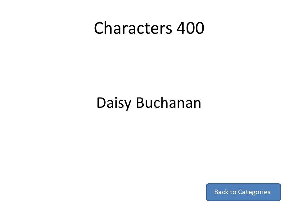 daisy buchanan character description