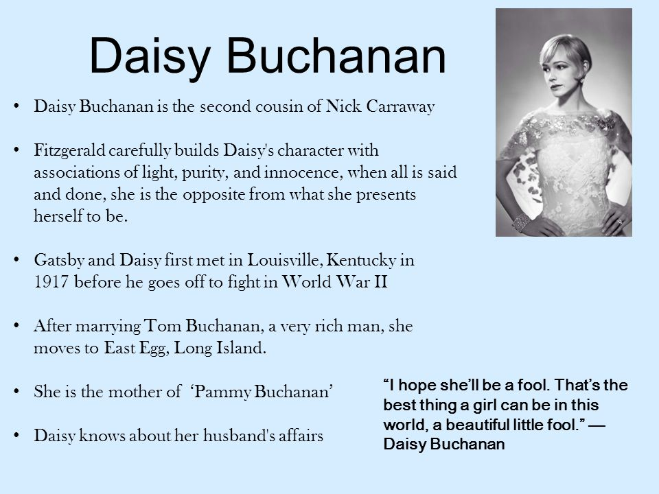describe daisy buchanan