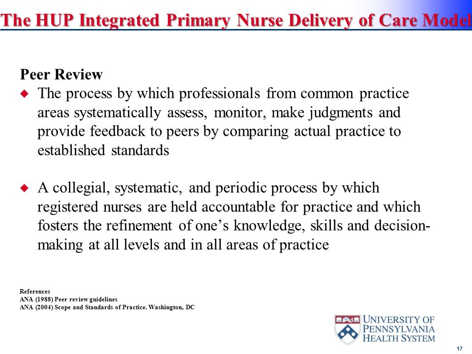 hup nepp hospital of the university of pennsylvania ppt download rh slideplayer com ana nursing peer review guidelines ana peer review guidelines position statement
