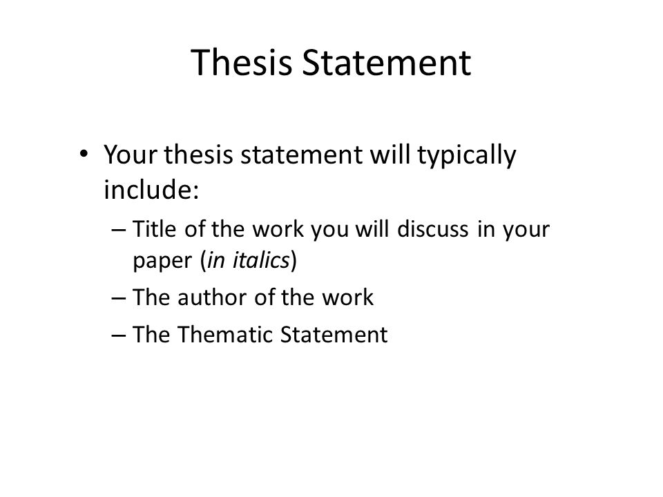 Thesis Statements For Essays  Health Essay Example also Science Argumentative Essay Topics Writing The Literary Analysis Essay  Ppt Video Online Download Apa Essay Paper