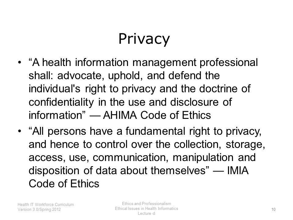 ahima code of ethics 2004