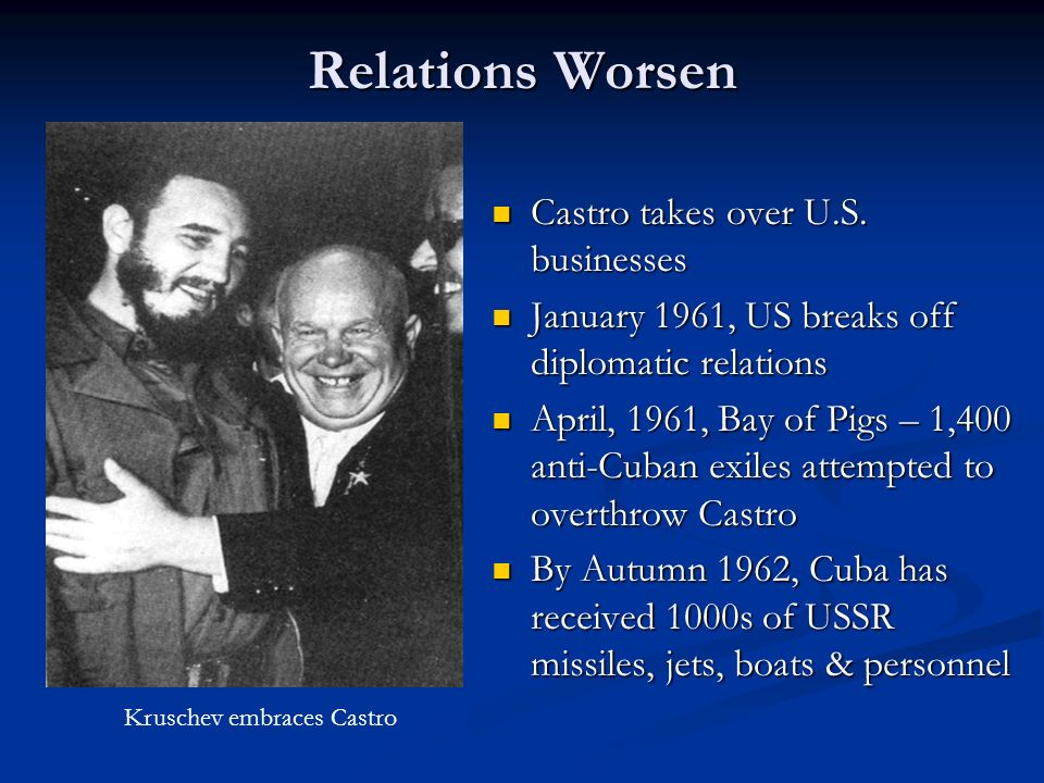 Relations Worsen Castro takes over U.S. businesses