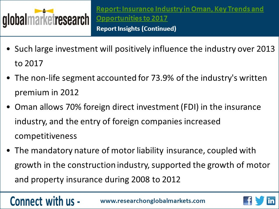 Report: Insurance Industry in Oman, Key Trends and