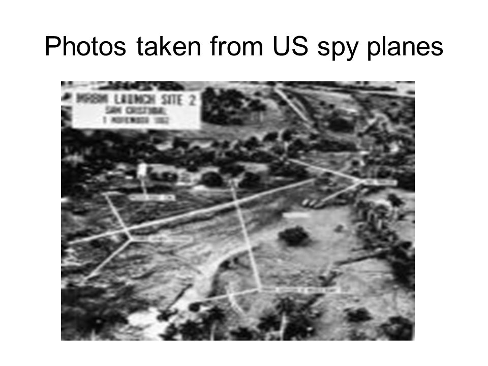 Photos taken from US spy planes