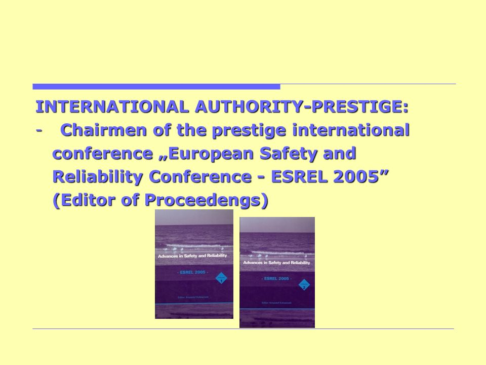 INTERNATIONAL AUTHORITY-PRESTIGE: