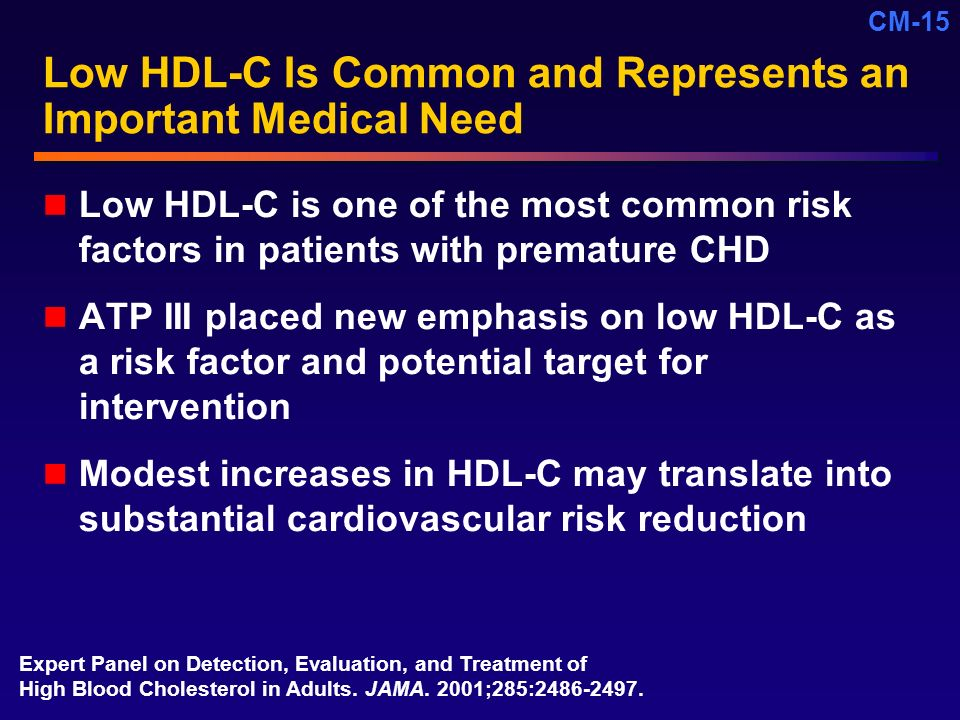 Low HDL-C Is Common and Represents an Important Medical Need