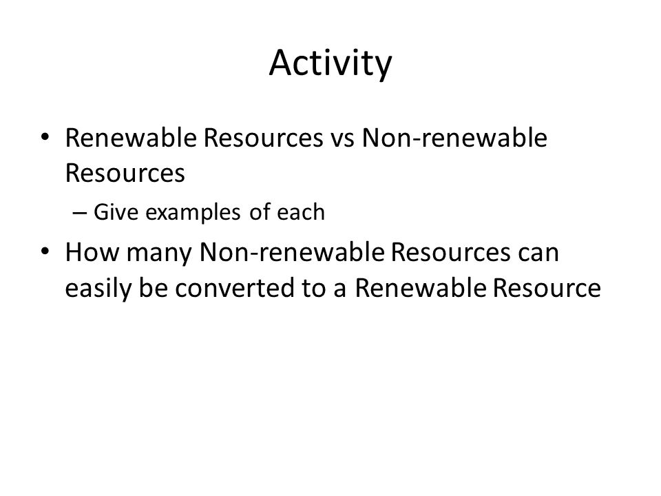 essay on non renewable resources Non-renewable resources are resources for which there is a limited supply the supply comes from the earth itself and, as it typically takes millions of years to develop, is finite.